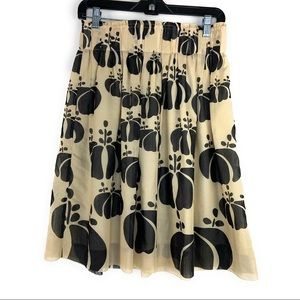 Hoss Intropia Patterned Aline Silk Skirt